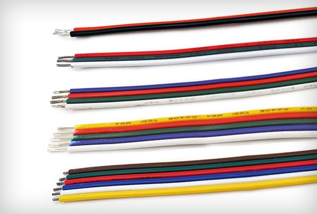 LED szalag tápvezeték és gerincvezeték tipusok