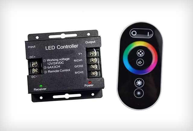 RF RGB LED szalag vezérlő