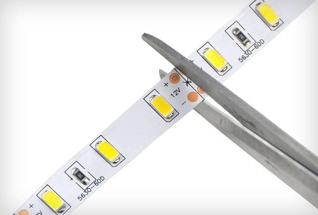 LED szalag méretre vágása