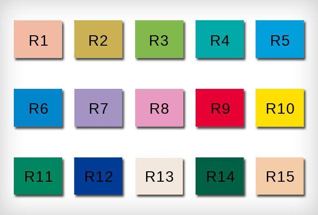 CRI teszt színek