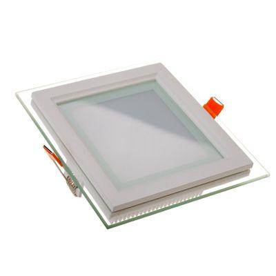 Üveg keretes LED panel 18W, négyzet (4000K) -6280