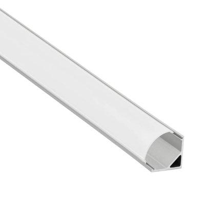 Alumínium sarok profil LED szalaghoz, 2m -3353
