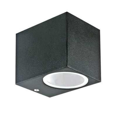 Fali lámpa, fekete, kültéri, IP44, GU10 foglalattal -7510