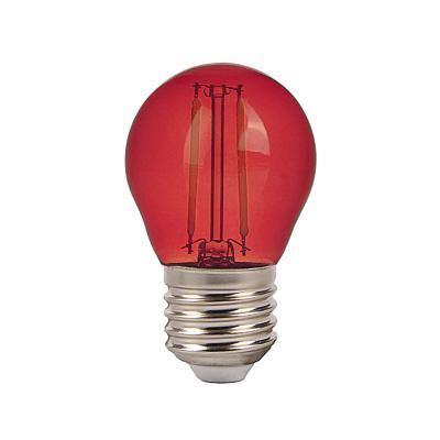Piros izzó, színes LED filament fényforrás, E27 -7413