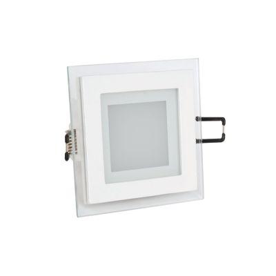 Üveg keretes LED panel 6W, négyzet (3000K) -4738